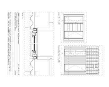 Detalhe de caixilho exterior - planta