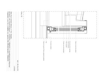 Detalhe de caixilho exterior - corte