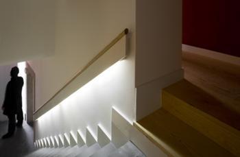 detalhe do corrimão e escada