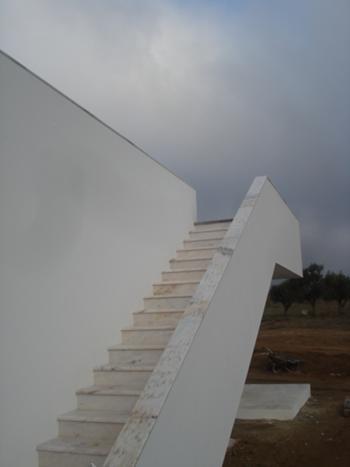 Escadas de acesso á cobertura - Casa Filho