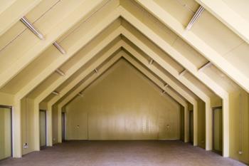 vista interior - pavilhão restaurante