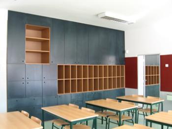 Vista da sala de aula