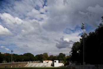 Proposta - vista do campo e dos edifícios