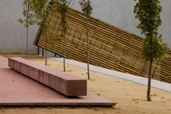 espaço de entrada e plataforma de estar
