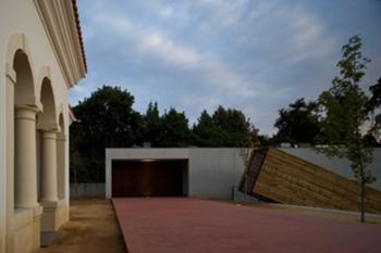 edifícios A e B; espaço de entrada e plataforma de estar