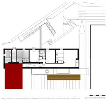 Edifício B [Planta à cota superior]