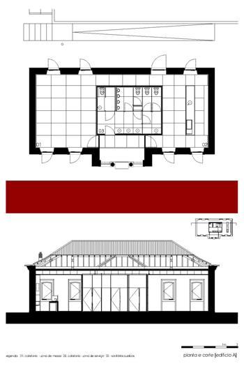 Edifício A [Planta e Corte]