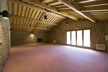 Salão de estar no antigo palheiro