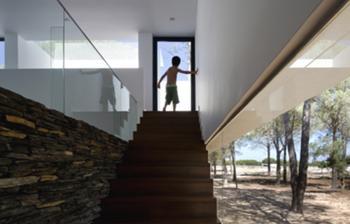 entre dois mundos - a escada vista do interior