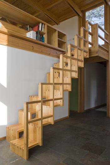 Escada de acesso ao escritório