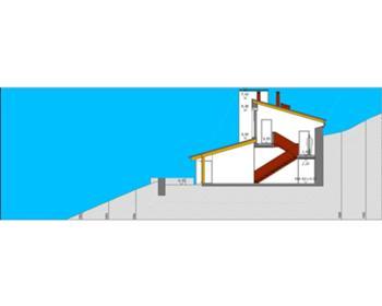 corte pela escadas