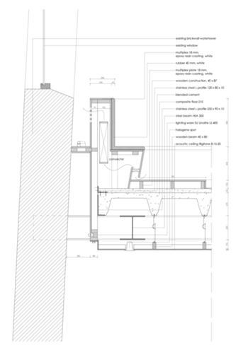 promenor, novo piso e banco