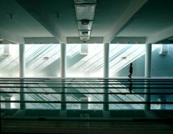 Entrada de luz zenital na piscina