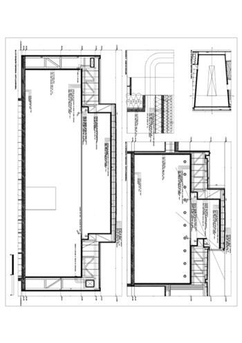 corte construtivo da sala de exposições (edifício novo)