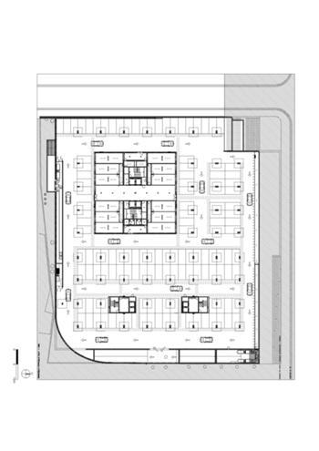 Planta do piso -1 (garagem)
