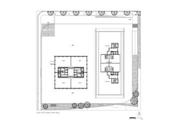Planta dos pisos recuados