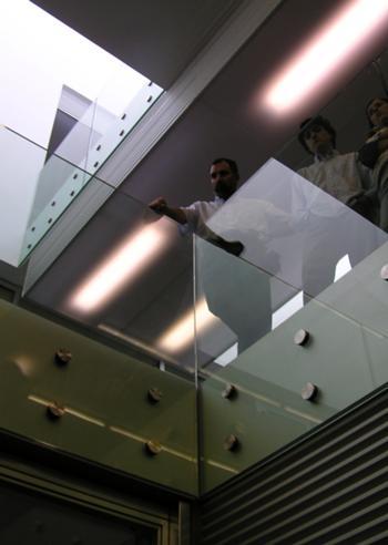 Vista das galerias a partir do átrio