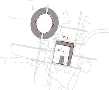 Reconstituição das estruturas da cidade Romana