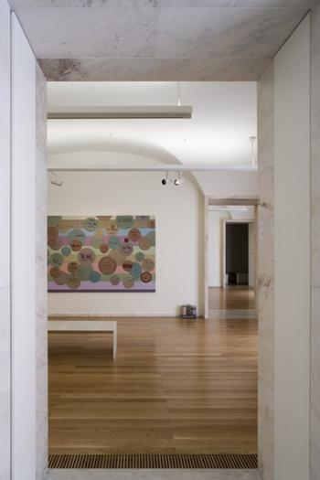 ligação entre salas de exposição
