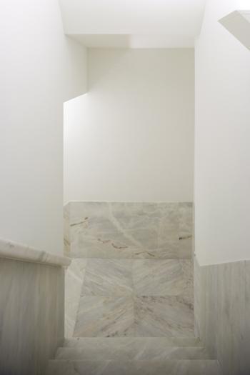 escada de acesso a cafeteria