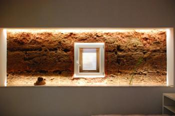 pormenor da parede de adobe