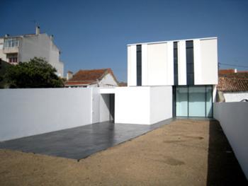 Jardim - Alçado posterior da casa