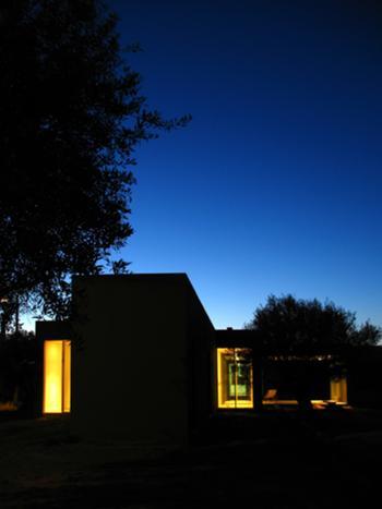 vista nocturna a partir de acesso privado