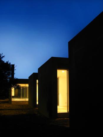 vista nocturna de espaços de dormir / social