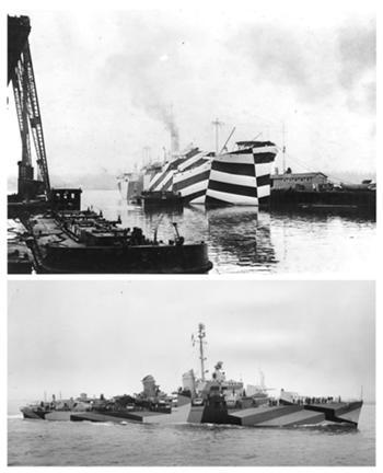 Incubadora de Indústrias Criativas InSerralves > Referencia, Camuflagem de Navios UUS Mahomet e USS Charles Sperry, I Guerra Mundial