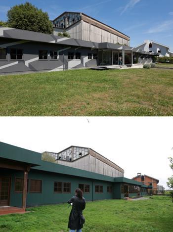 Incubadora de Indústrias Criativas InSerralves > Exterior, Existente (inferior) e InSerralves (superior)