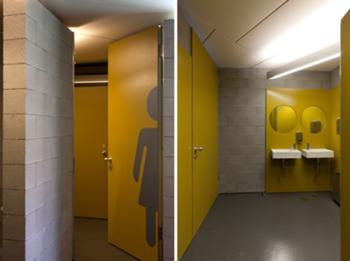 Incubadora de Indústrias Criativas InSerralves > Interior, Instalações Sanitárias