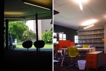 Incubadora de Indústrias Criativas InSerralves > Interior, Entrada e Espaço de Trabalho