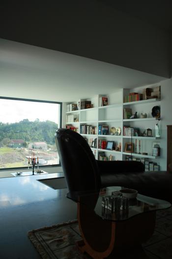 Vista da sala sobre o novo volume
