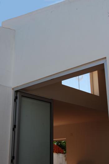 vista da janela do terraço desde o pátio
