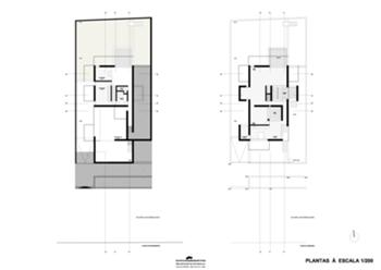 plantas dos pisos -1, 0