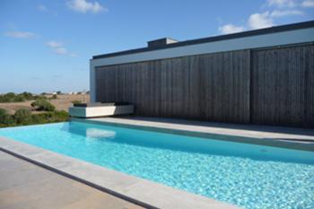 terraço, piscina