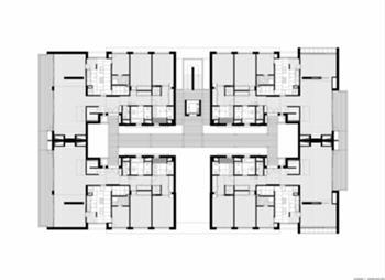 conjunto 1 - planta do piso tipo