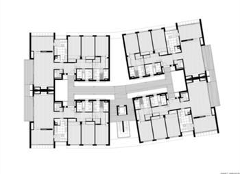 conjunto 2 - planta do piso tipo