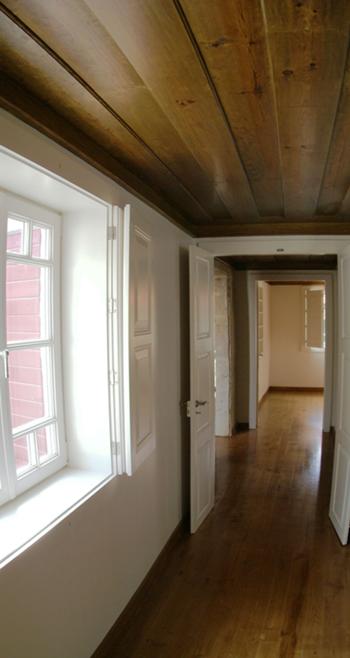 Eixo visual entre quartos, no terceiro piso