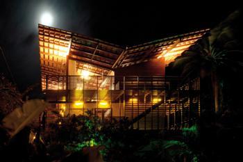 Vista Nocturna a partir do jardim