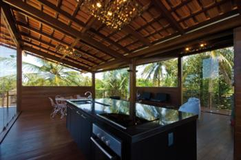 Sala com Ilha de Cozinha