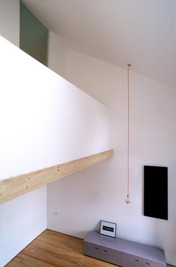 Habitação unifamiliar, Porto > Interior, Pé direito duplo da Sala