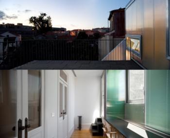 Casa M+M, Porto> Interior, Sala de estudo e Terraço exterior