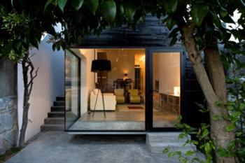 Casa M+M, Porto> Exterior, Fachada traseiras, piso 0
