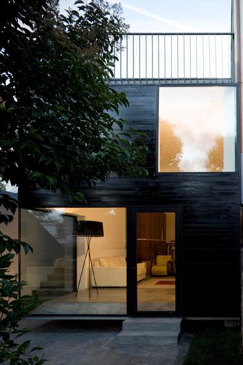 Casa M+M, Porto> Exterior, Fachada traseiras e Terraço