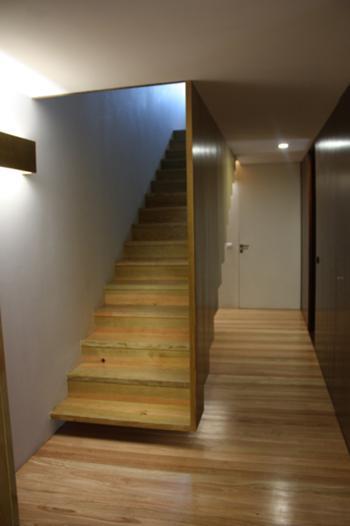 distribuição inferior / escada